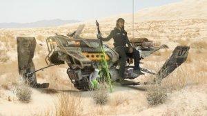 hoverbike striker - hornet 3d obj