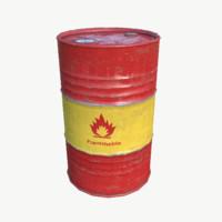 oil barrel obj