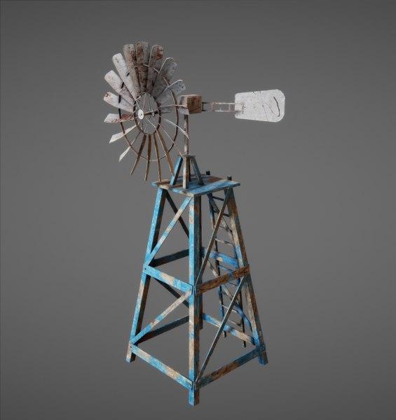 3d windpump wind pump