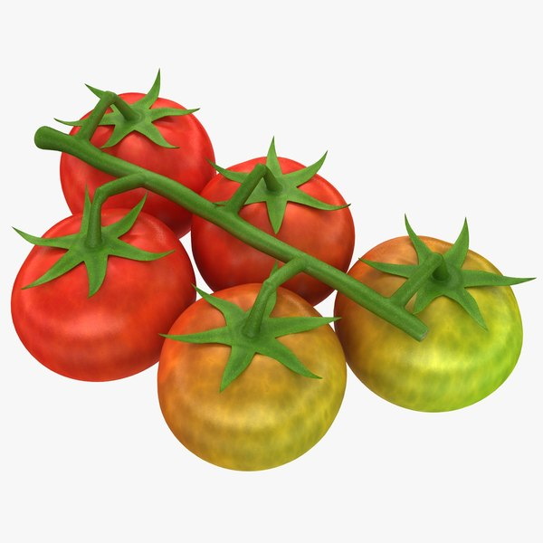 3d max realistic cherry tomatoes mix