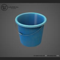 plastic bucket 3d max