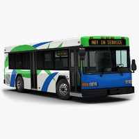 2015 gillig floor bus 3d model