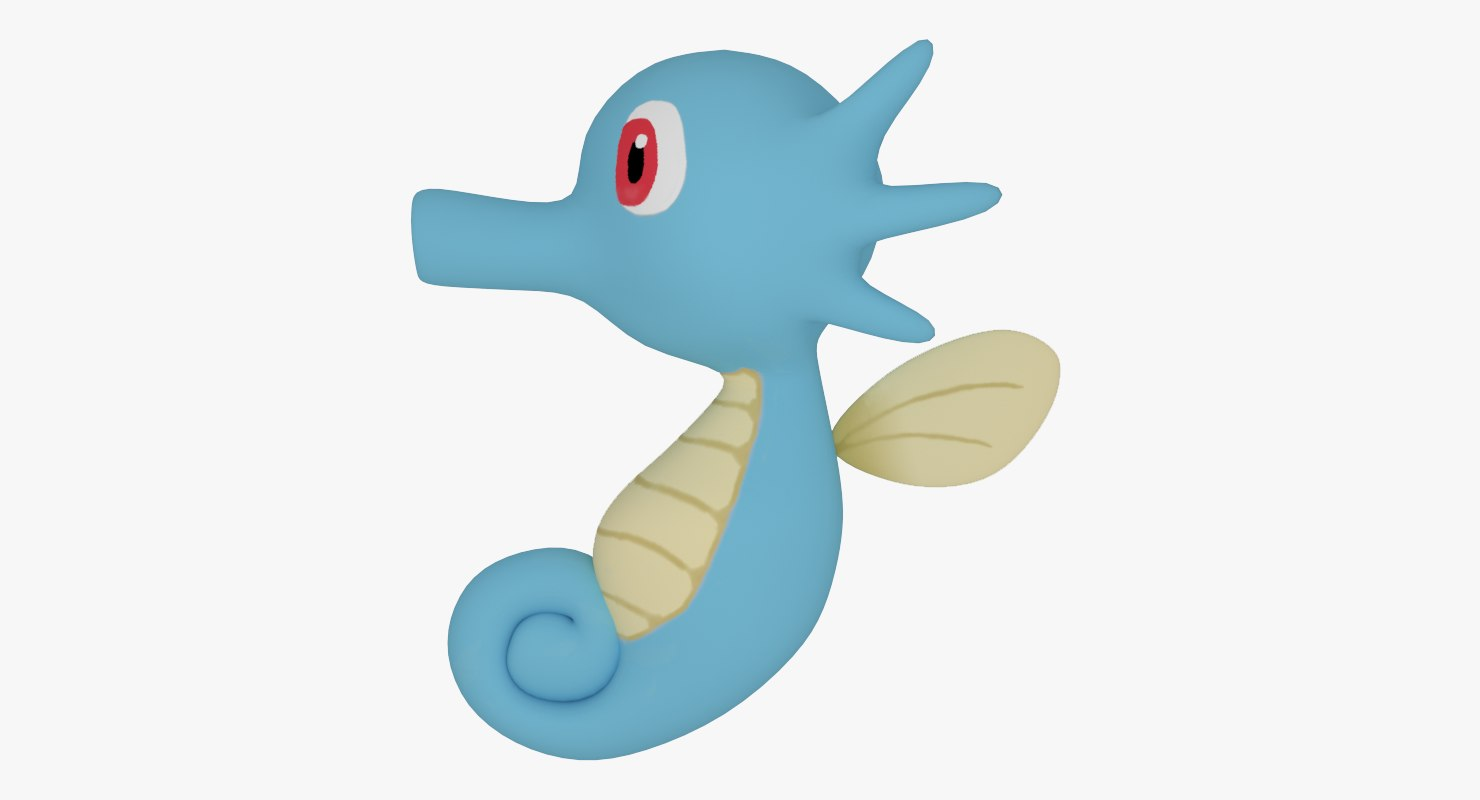3d horsea pokemon model