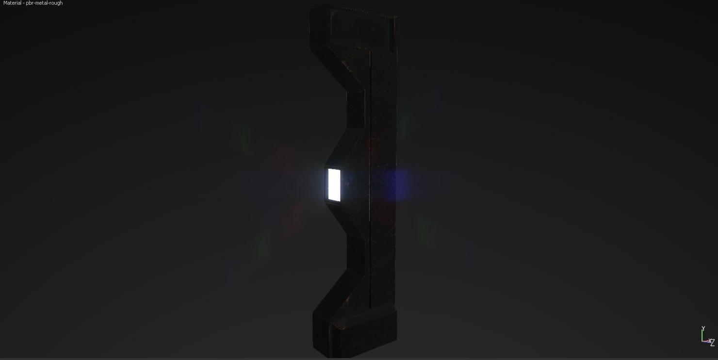 3d model worn support beam