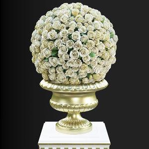 3d model roses classic interiors