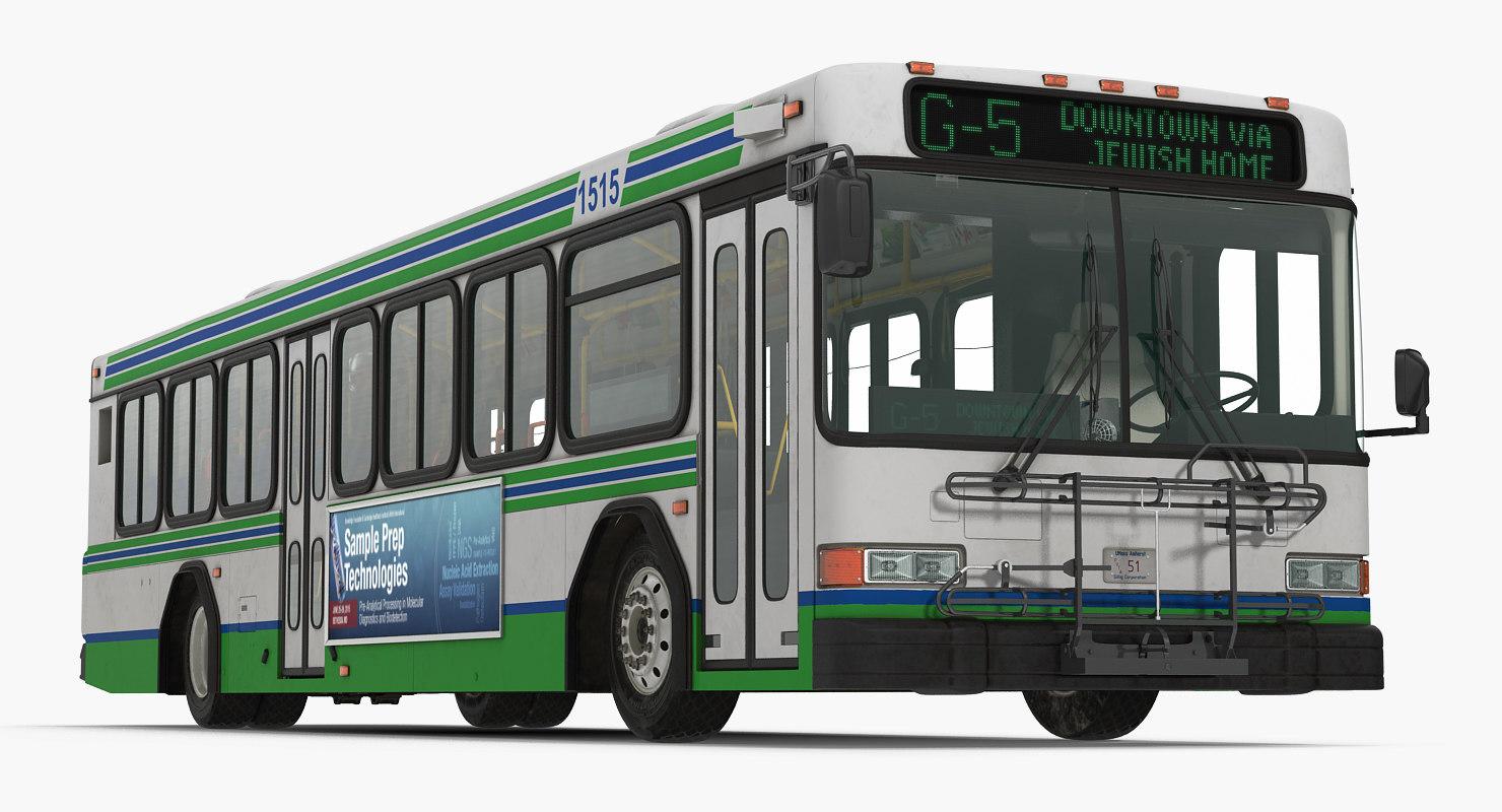 gillig floor advantage bus 3d 3ds