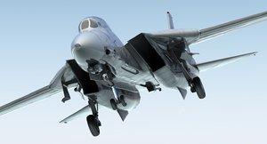 f 14 tomcat combat 3d model