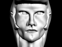 head rockabilly 3d model
