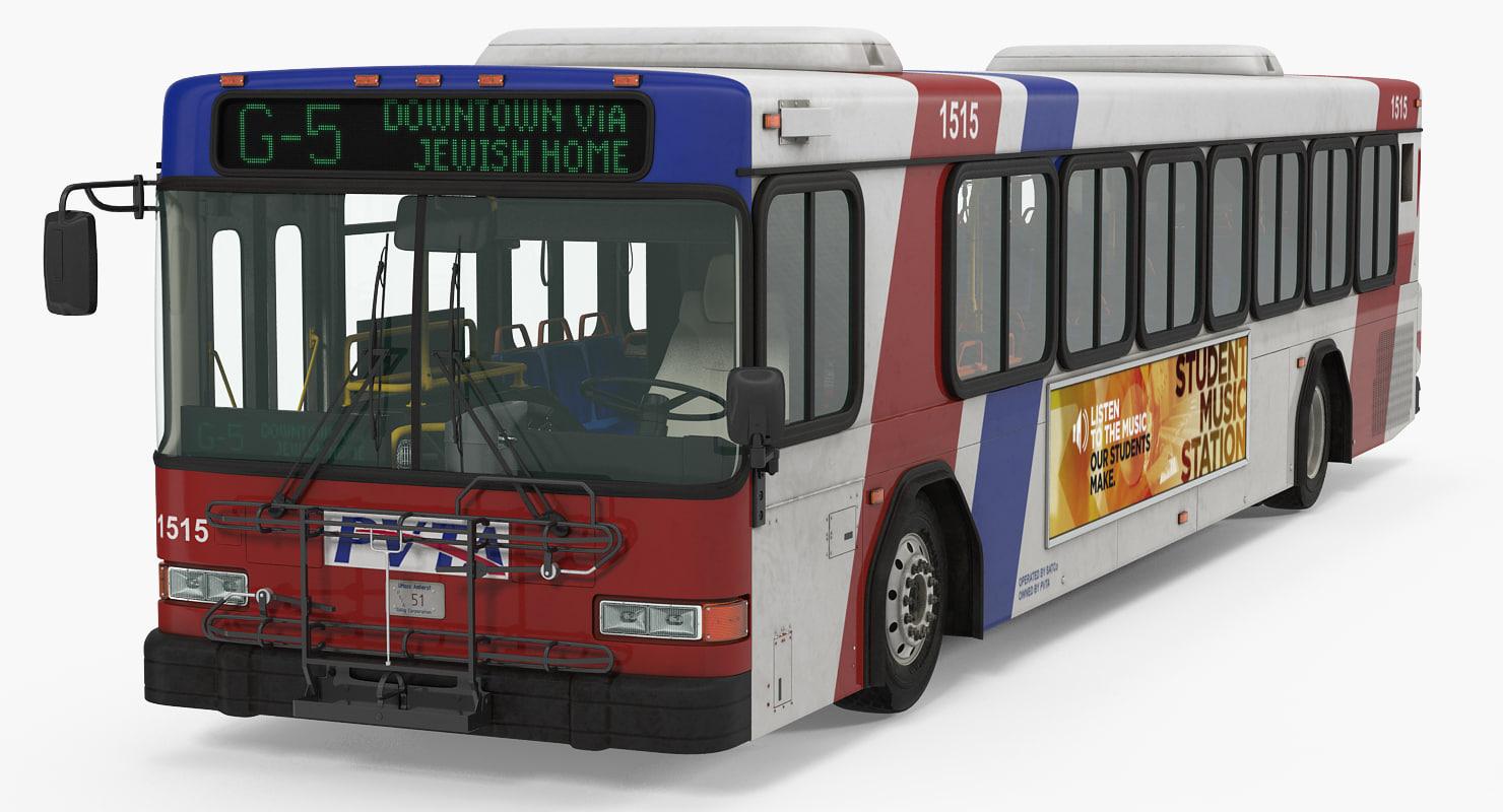 3d model gillig floor bus
