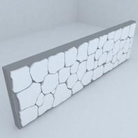 park wall 3d model