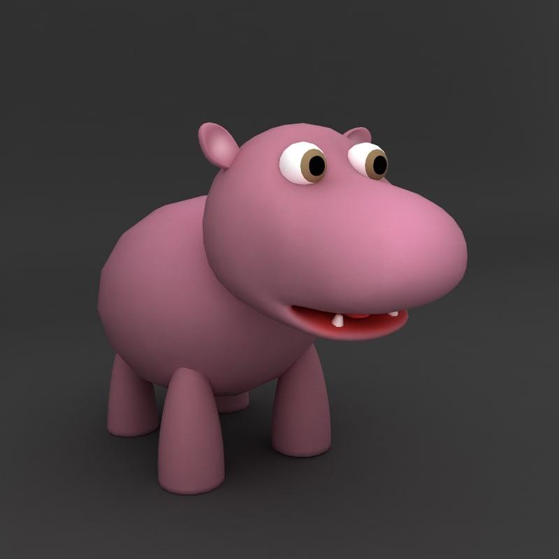 cartoon hippopotamus max