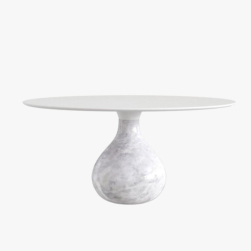 roche bobois table de repas aqua