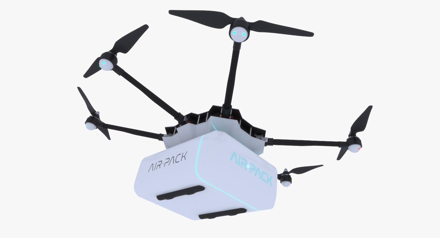 3d model concept delivery drone
