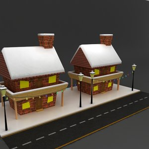 modular snow house 3d max