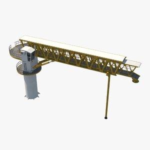 offshore gangway 3d model