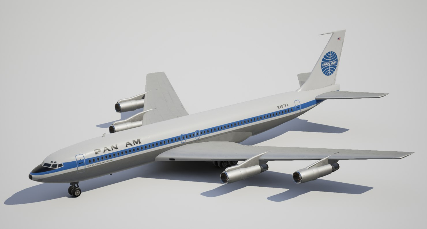 max low-poly boeing panam