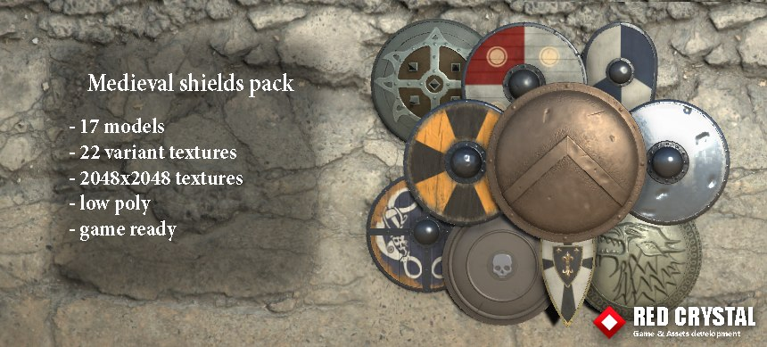 medieval shields pack 3ds
