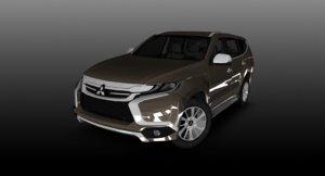 3d mitsubishi montero sport gt model