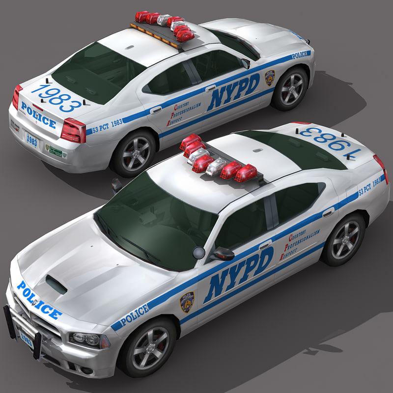 car wheel police 3d obj