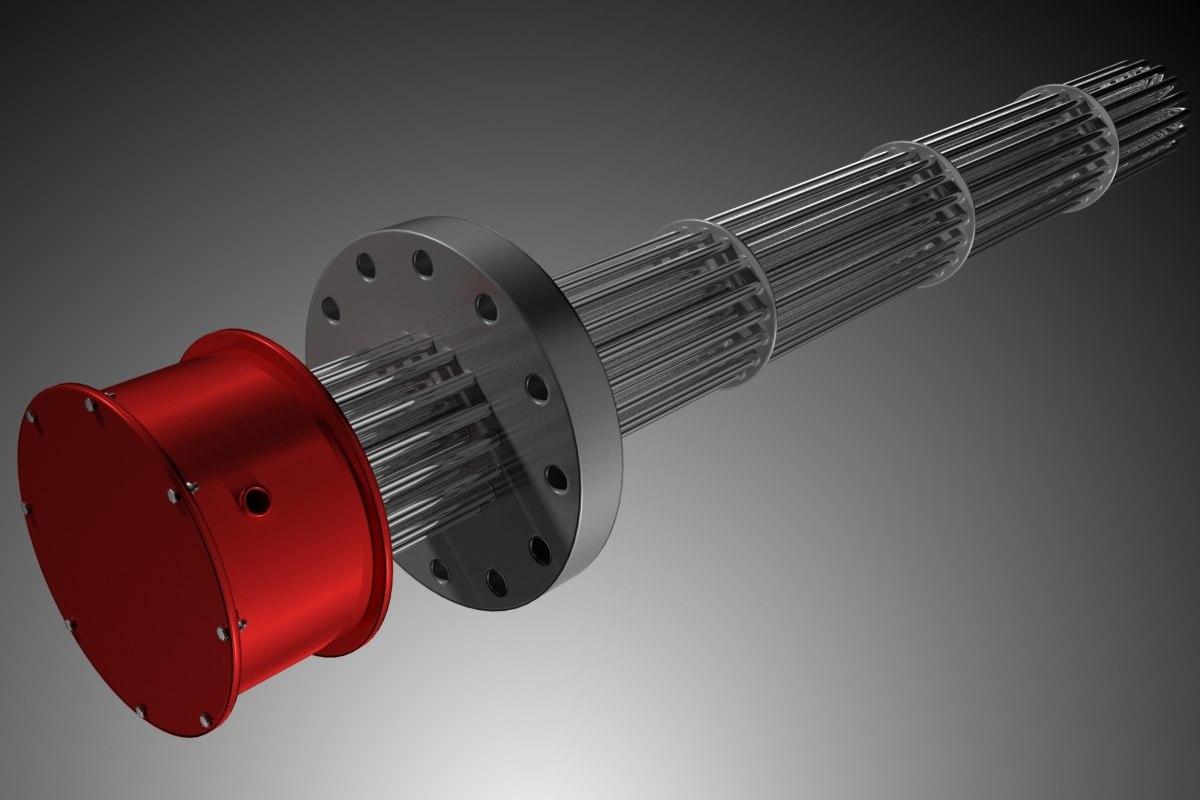 3d model industrial flange heater