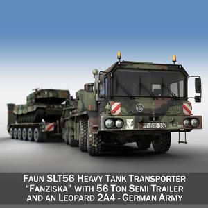 faun stl-56 transporter 52 3d c4d