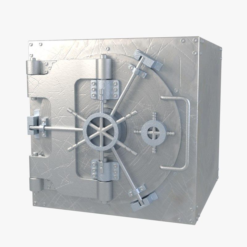 weathered vault door 3d 3ds