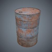 3d oil drum v1 pbr model