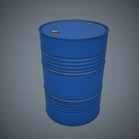 Oil Drum v2 Game Ready Low-Poly PBR