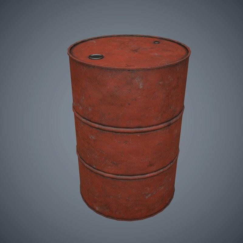 oil drum v3 pbr obj