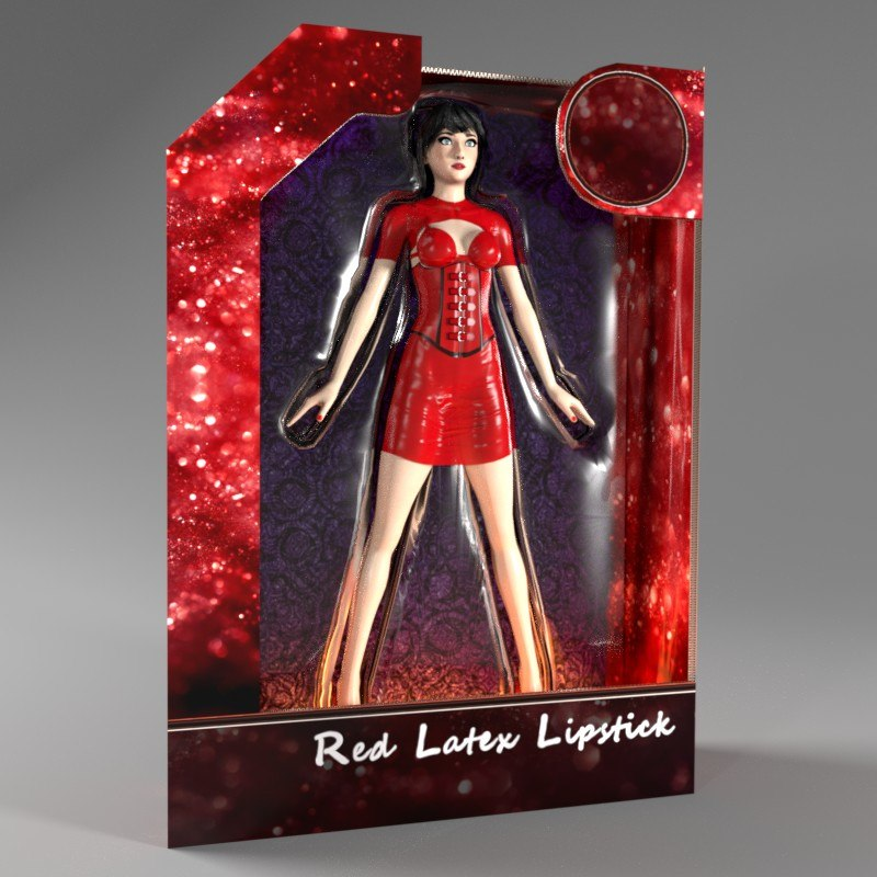 woman latex 3d blend