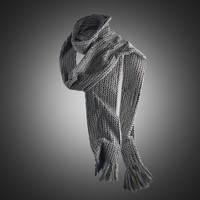 3d model of winter scarf