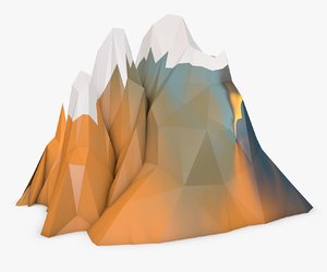 mountain 3d c4d