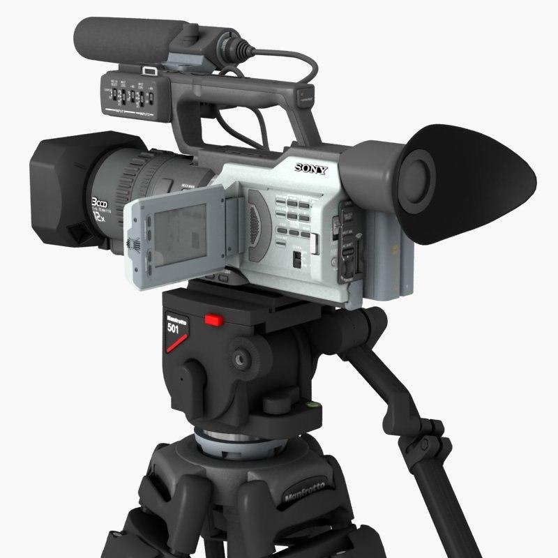 sony tripod camera 3d max
