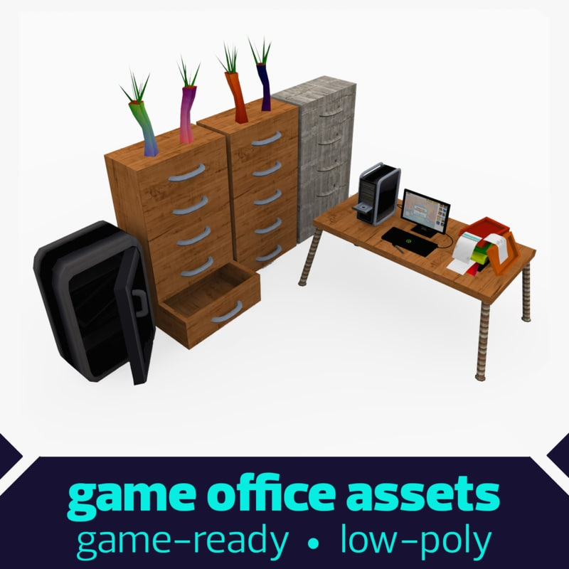 office element drawers 3d model