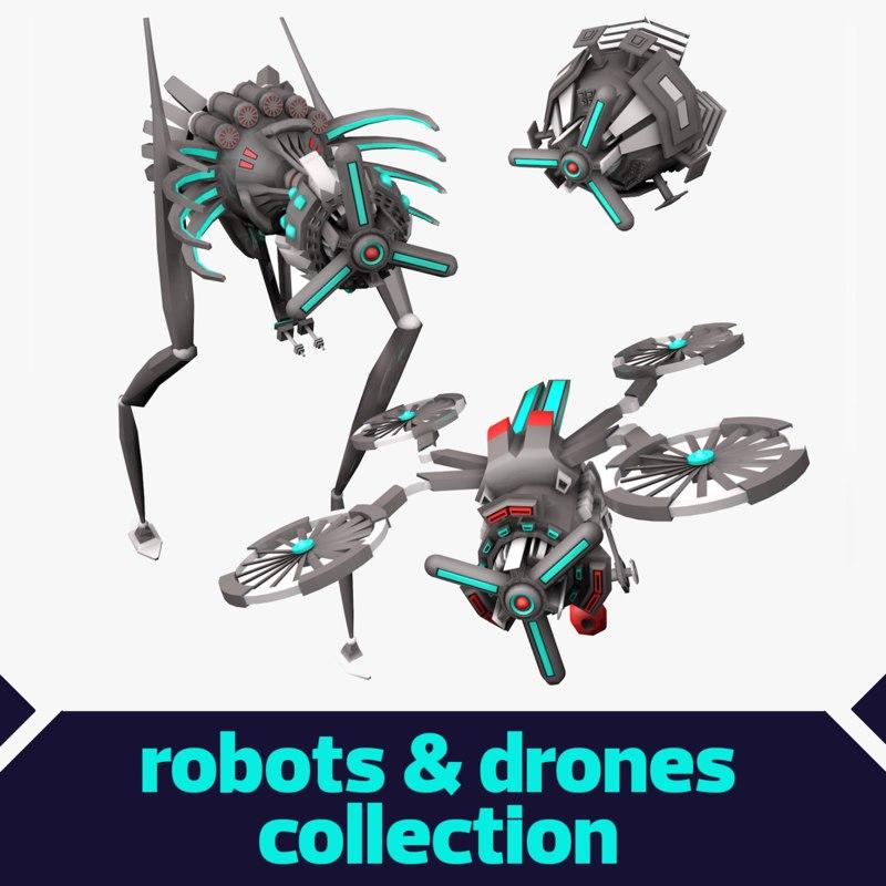 pack robot 3d model