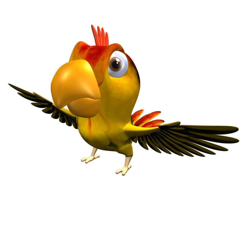 parrot birds macaws obj