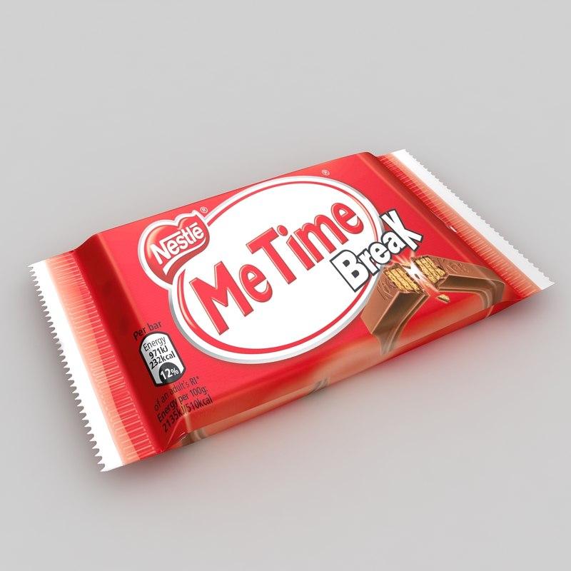 3d model of kitkat chocolate