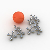3d jacks ball set model