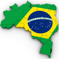 3d Political Map of Brazil