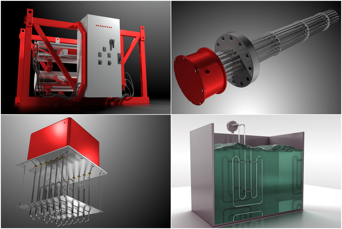industrial heater 3d model