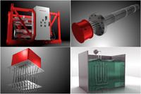 3d model industrial heater