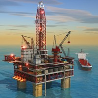 Oil Rig Platform & Tanker