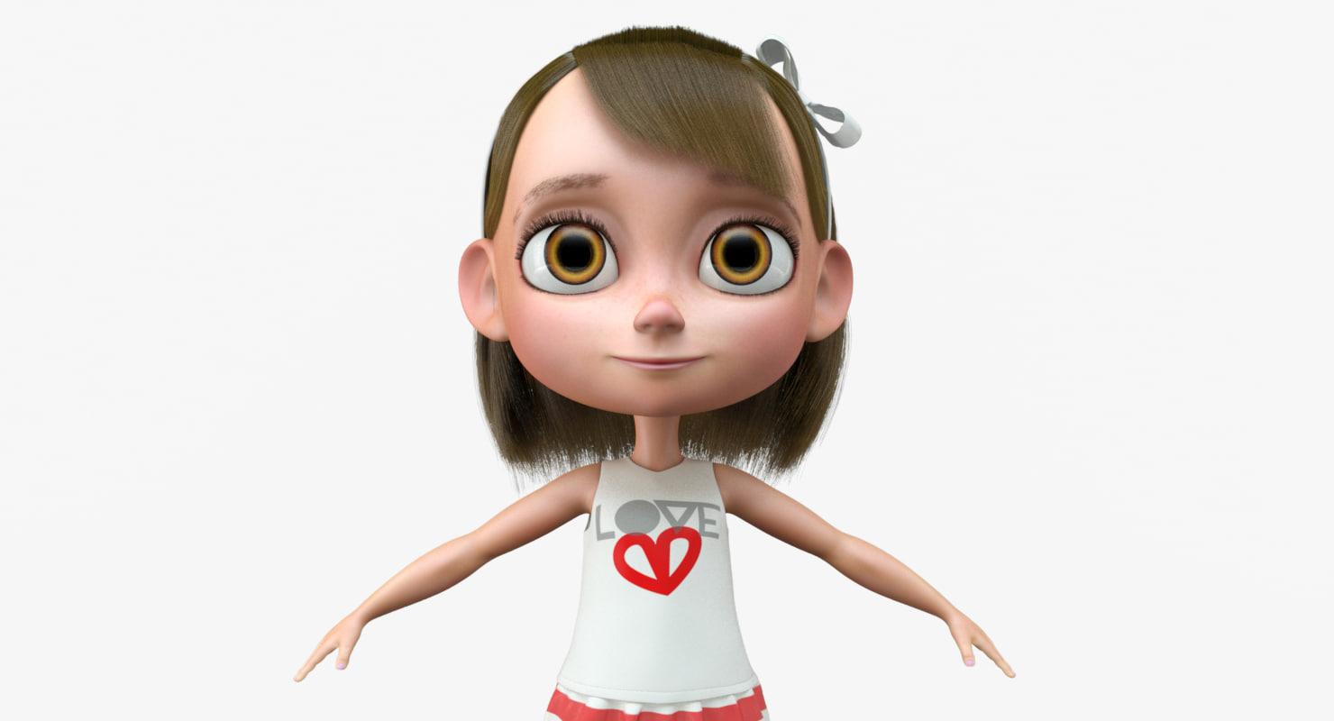 3d little girl