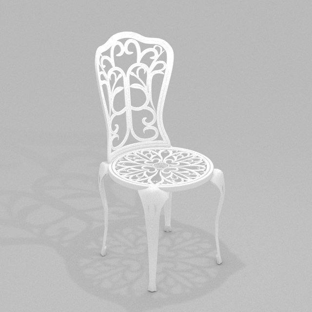 scrollwork chair iron max