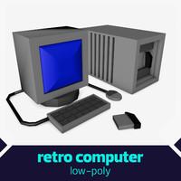 retro computer c4d free