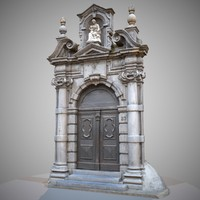 architectural door entrance 3d obj