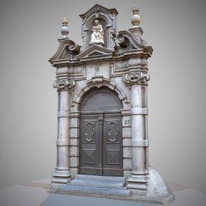 architectural door entrance 3d obj
