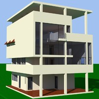 3d model baizeau villa house