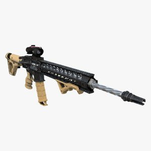 assault rifle ar-15 3d max