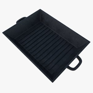 3d model subdivision cast iron grill
